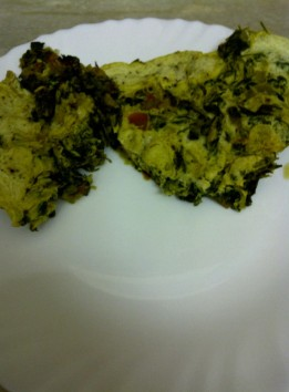 Fenugreek Leaves with Eggs