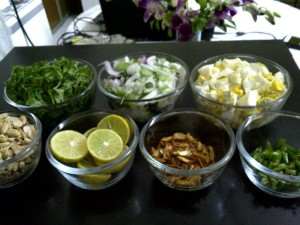 Garnishes for Khow Suey