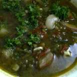 Aromatic Bean Broth with Radish