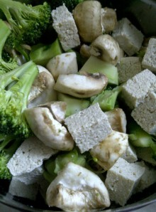 Bean Curd and Vegetables for Fat Free Ginger Redolent Broth with Bean Ciurd and Tofu, The Asian Way