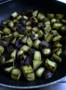 Browned Sweet Potato for Croutons