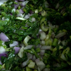 Chicken Noodle Vegetable Broth - Step 1 Cook Onions and Celery