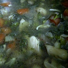 Chicken Noodle Vegetable Broth - Step 4 Add the Cooked Chicken