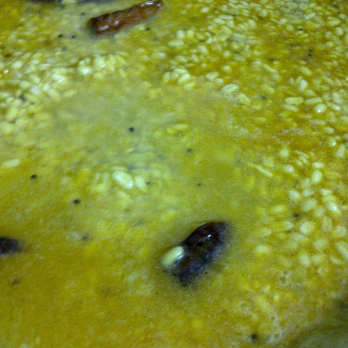 Cooking the Moong Dal