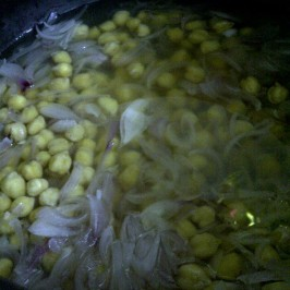 Fat Free Four 'C's Soup - Step 3 Add chickpeas and water