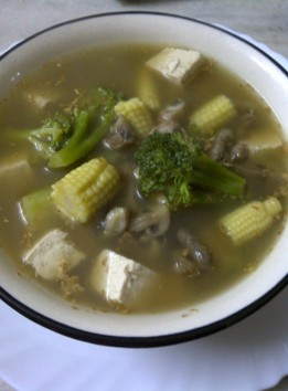 Fat Free Ginger Redolent Broth with Bean Ciurd and Tofu, The Asian Way