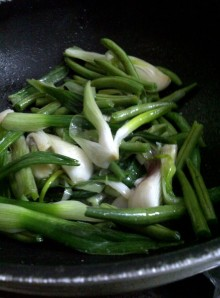 Green Noodles - Add the French Beans