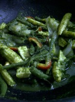 Green Noodles - Add the Indian Pesto