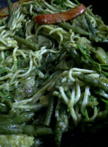 Green Noodles - Add the Noodles