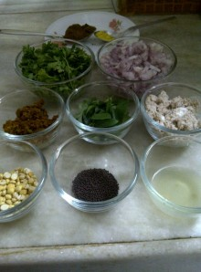 Ingredients for Baingan Pohe