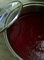 Pureed Beetroot, Carrot and Tomato for Soup