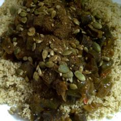 Couscous with Aubergine Stew