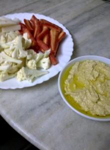 Crudités with Homey Hummus
