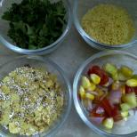 Dry Ingredients for Bhel of Popped Amaranth Seeds & Khakhra
