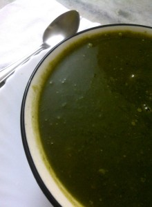 Fat Free Pumpkin, Cabbage and Spinach Soup