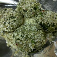 Green Pea & Kohlrabi Cakes Uncooked