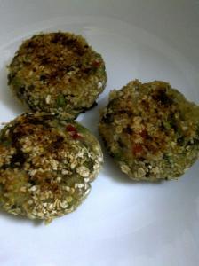 Green Pea & Kohlrabi Cakes