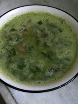 Green Pea Soup with Mint & Mushroom