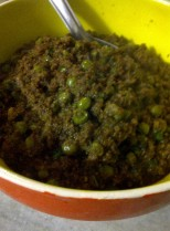 Keema Matar/Minced Meat with Peas, The Indian Way