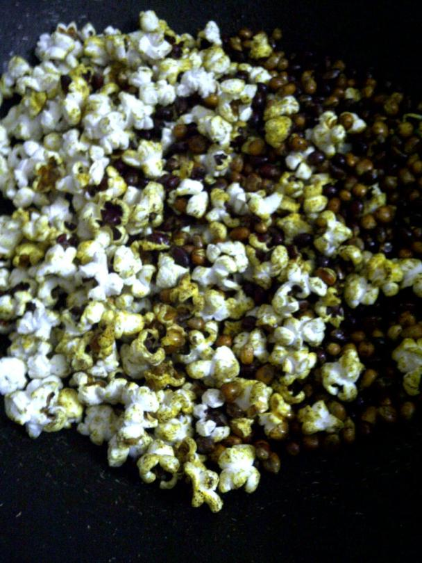 Partially Popped Corn Kernels
