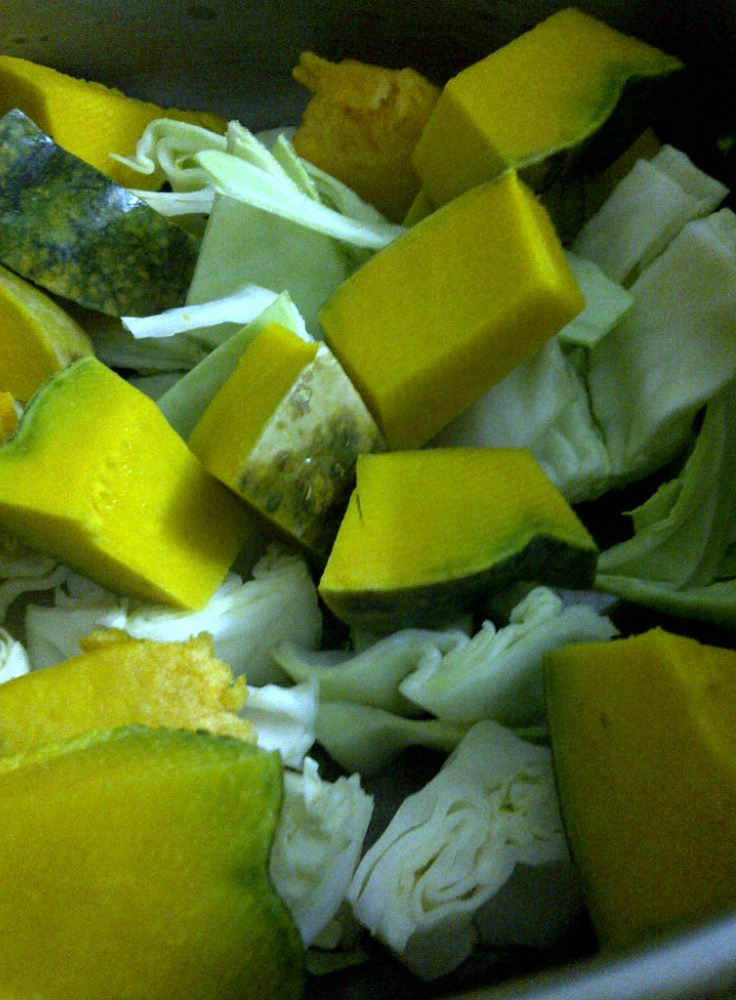 Pumpkin and Cabbage Ready for Fat Free Pumpkin, Cabbage and Spinach Soup