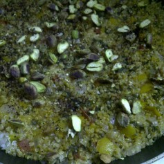 Quinoa With Pepper & Pistachio