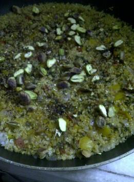 Quinoa With Pepper & Pistachio