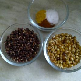 Ruby Red and Fiery Amber Corn Kernels for Popcorn