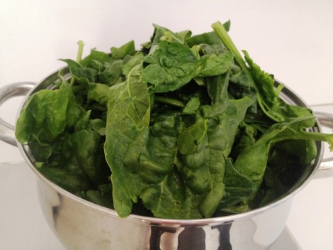Spinach for Spicy Scrambled Eggs