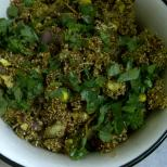 Virtually Fat-free Bhel of Popped Amaranth Seeds & Khakhra