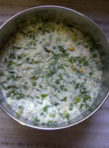 Batter for Kohlrabi & Fresh Green Chickpea Idada