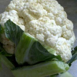 Cauliflower Stalks Used in Seedy Cauliflower Soup