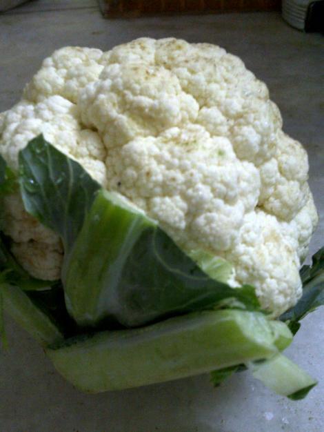 Cauliflower Stalks Used in Seedy Cauliflower Soup
