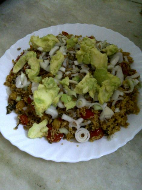 Couscous with Chickpea & Avocado