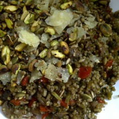 Pearl Millet Pilaf with Mushroom & Red Pepper