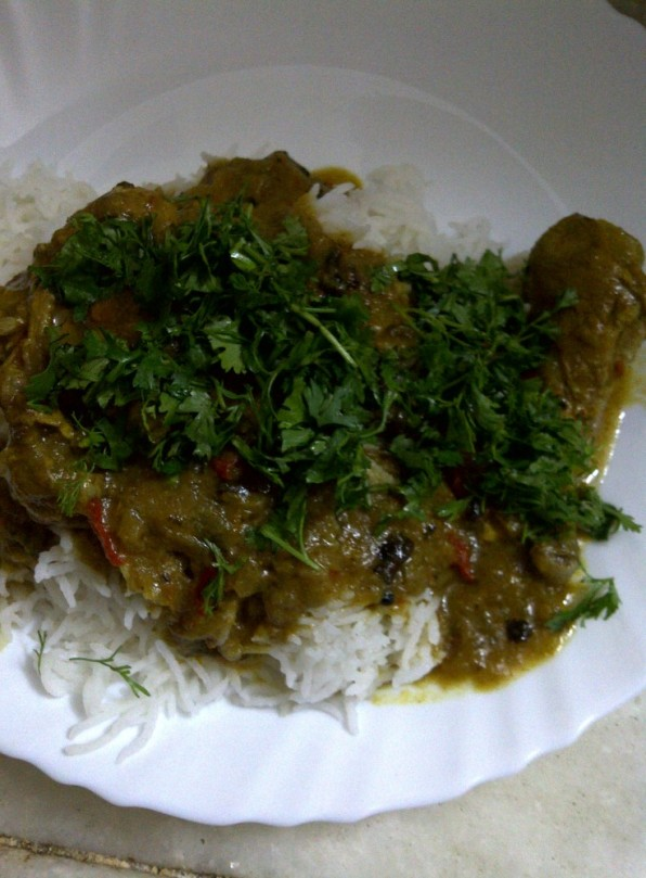 Recipe & Template for Simple Indian Chicken Curry