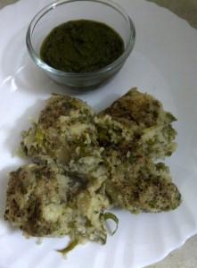 Savoury Steamed Kohlrabi & Fresh Green Chickpea Cake