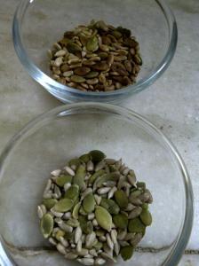 Sunflower & Pumpkin Seeds for Seedy Cauliflower Soup