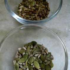 Sunflower & Pumpkin Seeds for Seedy Cauliflower Soup