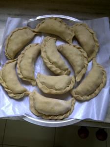 Making Samosa Pot Stickers 1