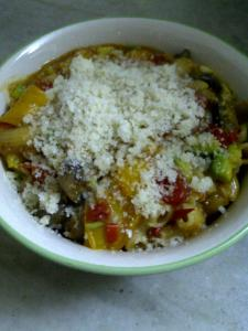 Non-dairy Creamy Pasta with Oats, Mushroom and Avocado