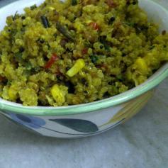 Quinoa Pohe/Quinoa Upma
