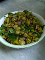 Saffron Infused Pearl Barley with Rocket, Pomegranate & Chickpea