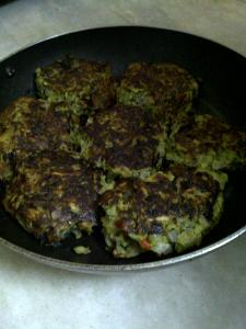 Sweet Potato, Courgette & Green Pea Rösti/Latke/Potato Pancake