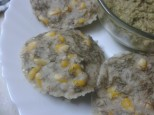 Jowar & Bajra Idli with Suva Bhaji & Sweetcorn