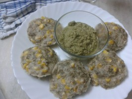 Sorghum (Jowar) & Pearl Millet (Bajra) Idli with Dill Leaves & Sweetcorn