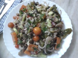 Mixed Bean & Vegetable Salad, The Kooky Way