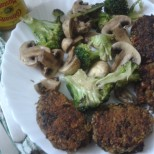 Mixed Sprouts & Smoked Aubergine Burger