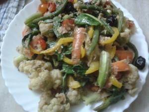 Tuna Laced Cauliflower Salad