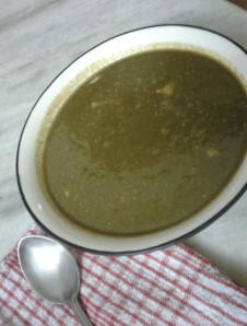 Autumnal Spinach & Carrot Soup, The Indian Way